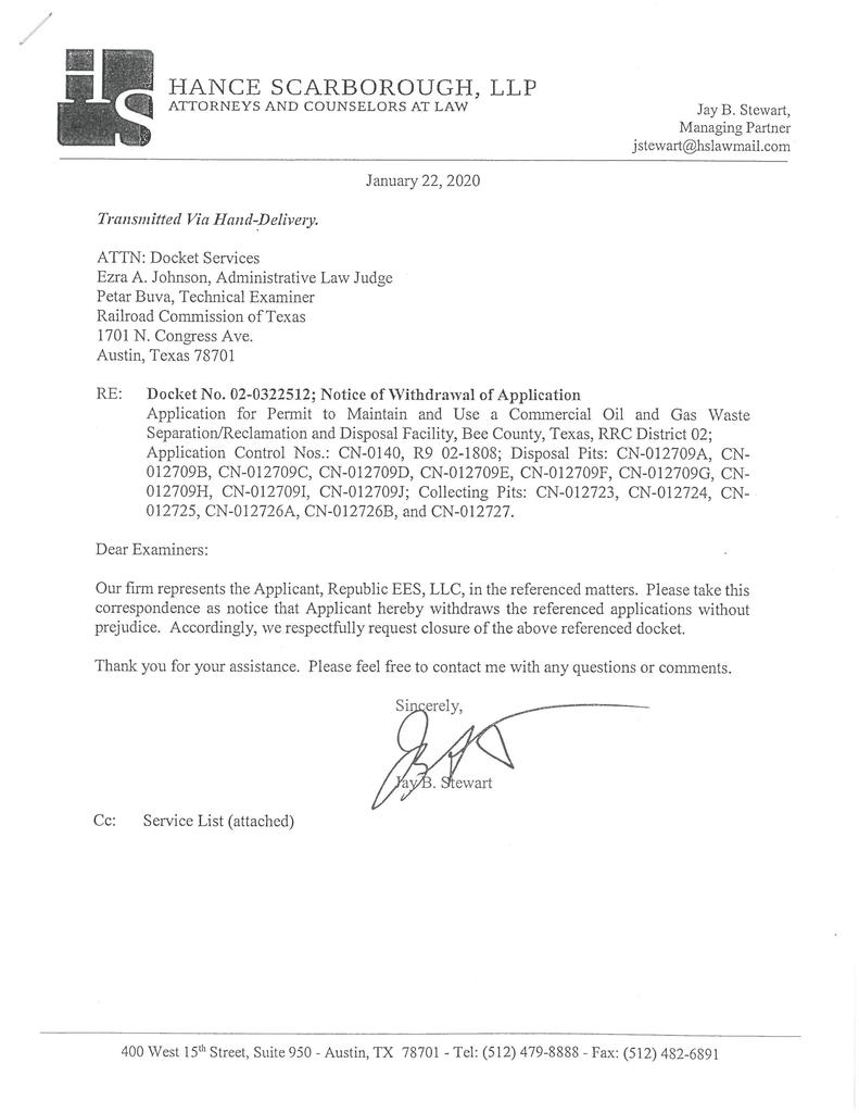 Withdrawal Letter